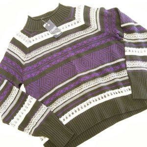 Chaps Knitted Mock Neck Sweater